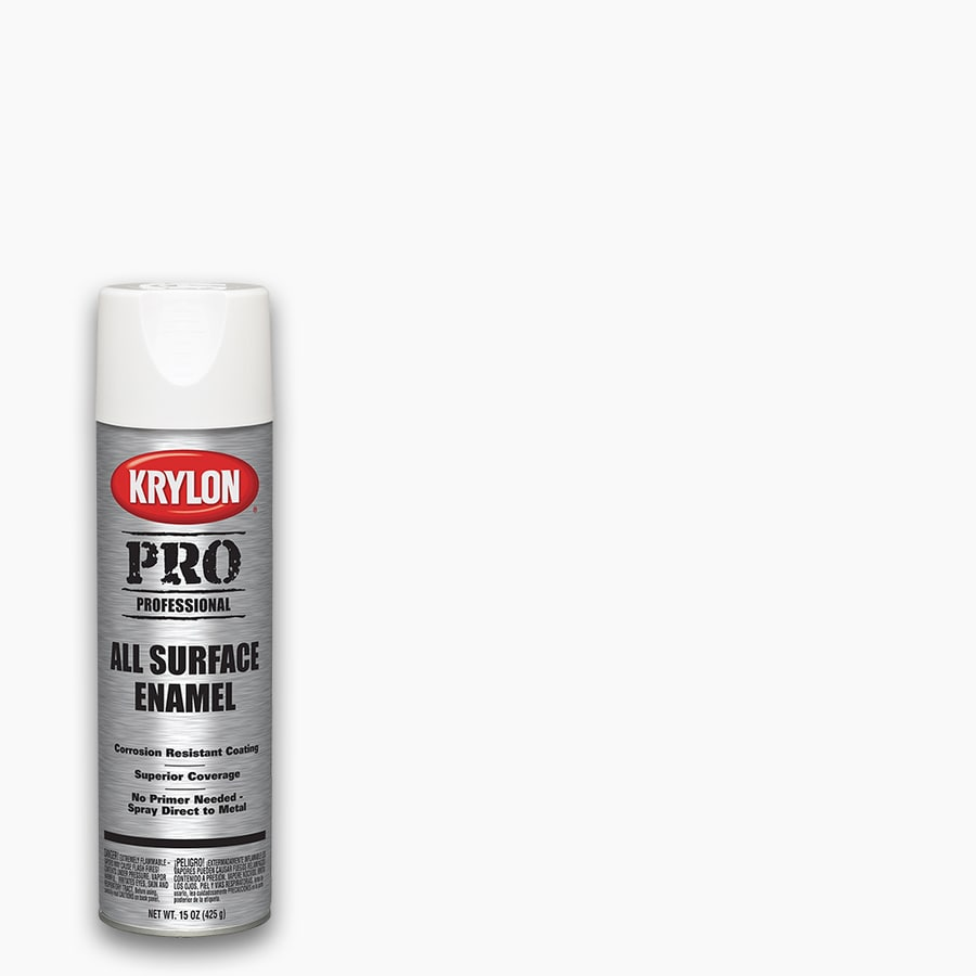 shop krylon professional semi gloss white spray paint actual net contents 15 oz at. Black Bedroom Furniture Sets. Home Design Ideas