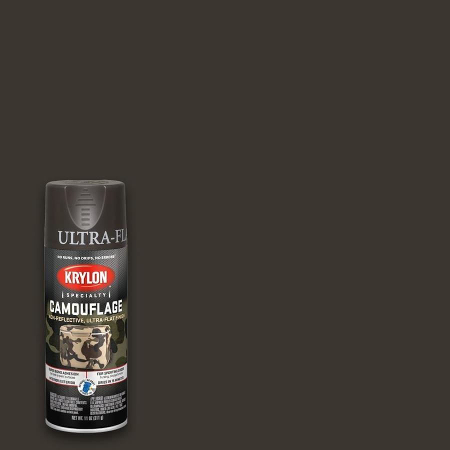 Krylon Flat Brown Spray Paint Actual Net Contents 11 Oz