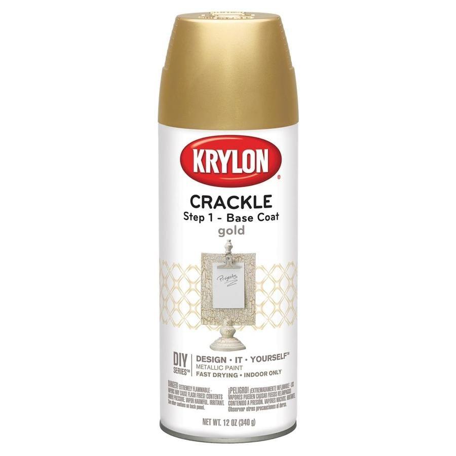 Krylon Gold Crackle Lacquer Spray Paint (Actual Net Contents: 12)