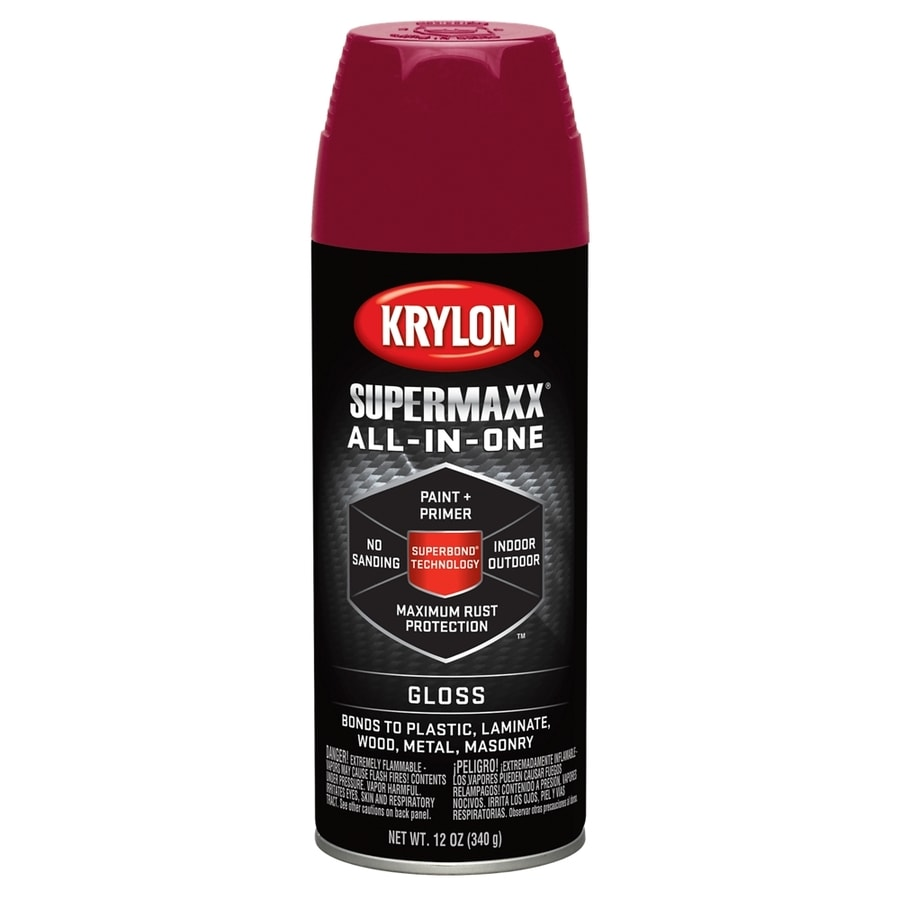 Krylon Burgundy Enamel Spray Paint (Actual Net Contents: 12-oz)