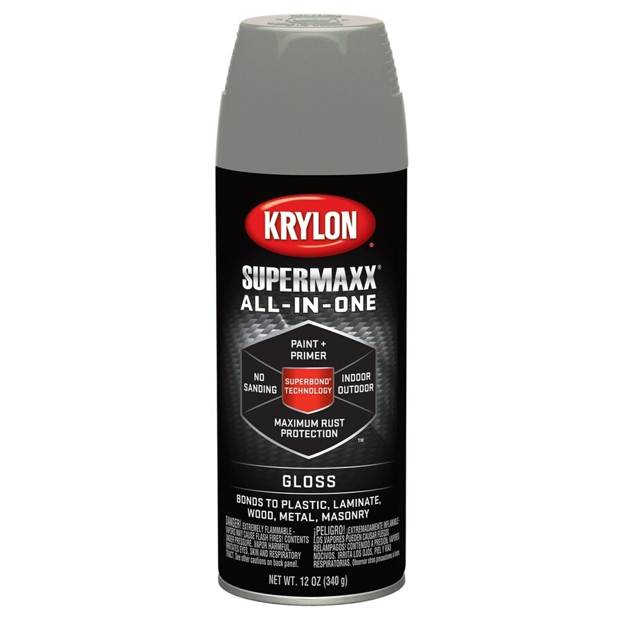 Krylon SuperMaxx Classic Gray Enamel Spray Paint (Actual Net Contents: 12-oz)