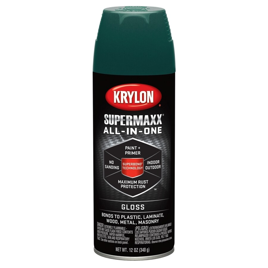 Krylon SuperMaxx Hunter Green Enamel Spray Paint (Actual Net Contents: 12-oz)