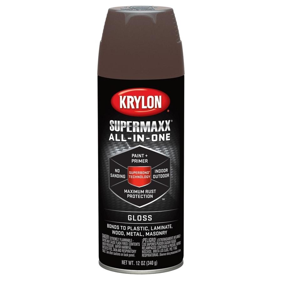 Krylon Leather Brown Enamel Spray Paint (Actual Net Contents: 12-oz)