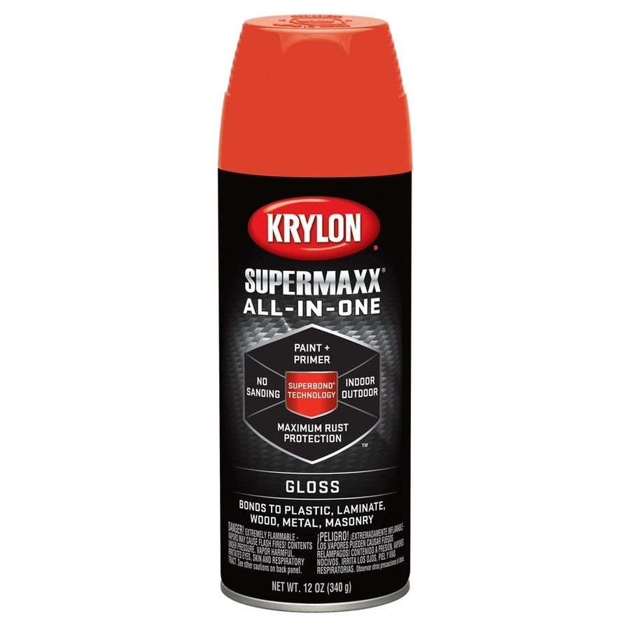 shop krylon mandarin enamel spray paint actual net contents 12 oz. Black Bedroom Furniture Sets. Home Design Ideas
