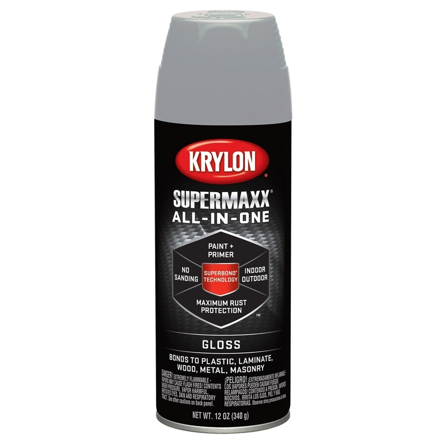 Krylon Piston Gray Enamel Spray Paint (Actual Net Contents: 12-oz)