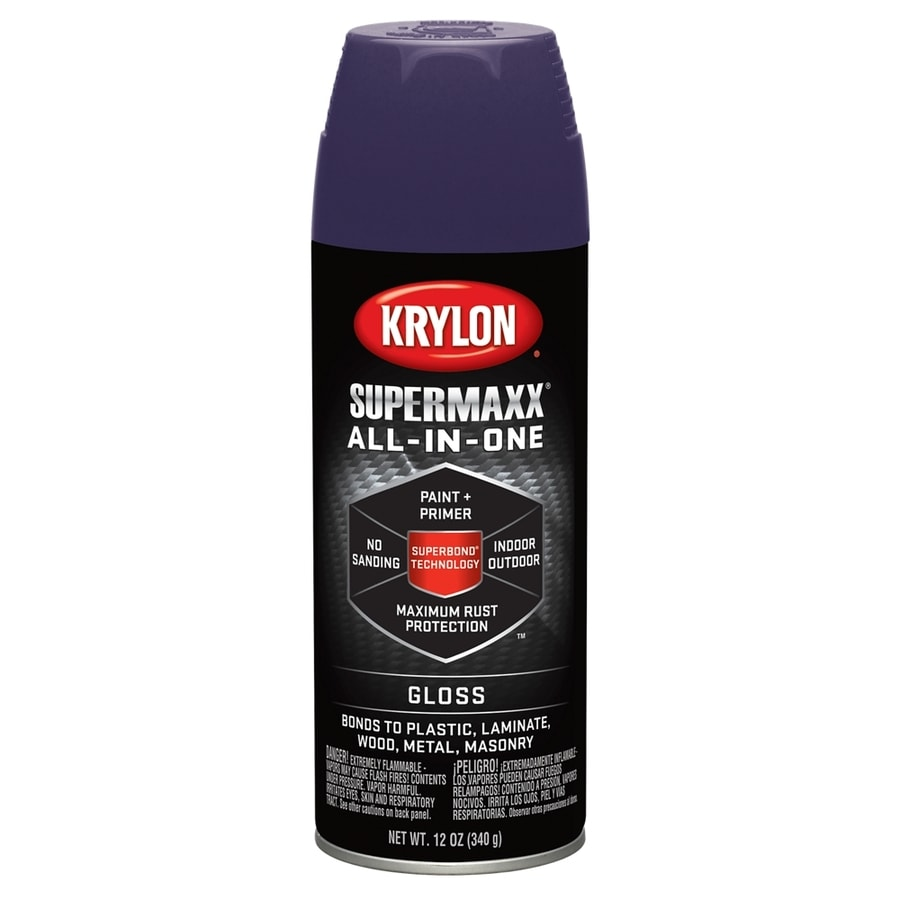 Krylon SuperMaxx Purple Enamel Spray Paint (Actual Net Contents: 12-oz)