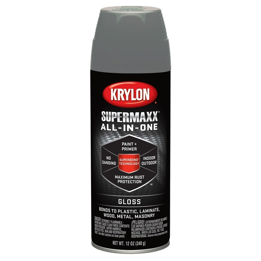 Krylon SuperMaxx Smoke Gray Enamel Spray Paint (Actual Net Contents: 12-oz)