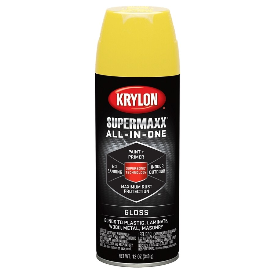 Krylon Sun Yellow Enamel Spray Paint (Actual Net Contents: 12-oz)