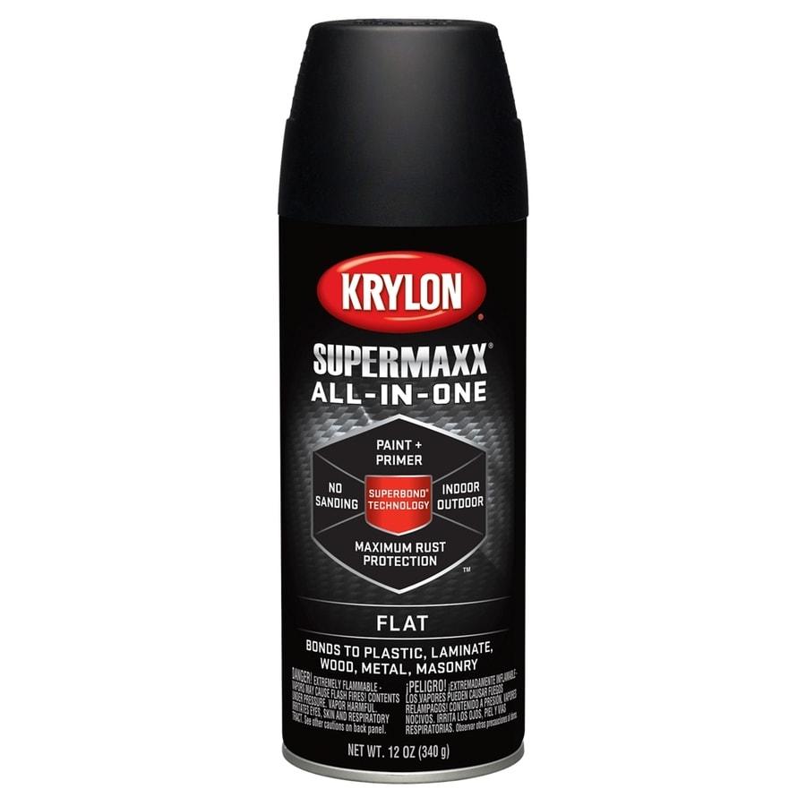 Krylon SuperMaxx Black Enamel Spray Paint (Actual Net Contents: 12-oz)