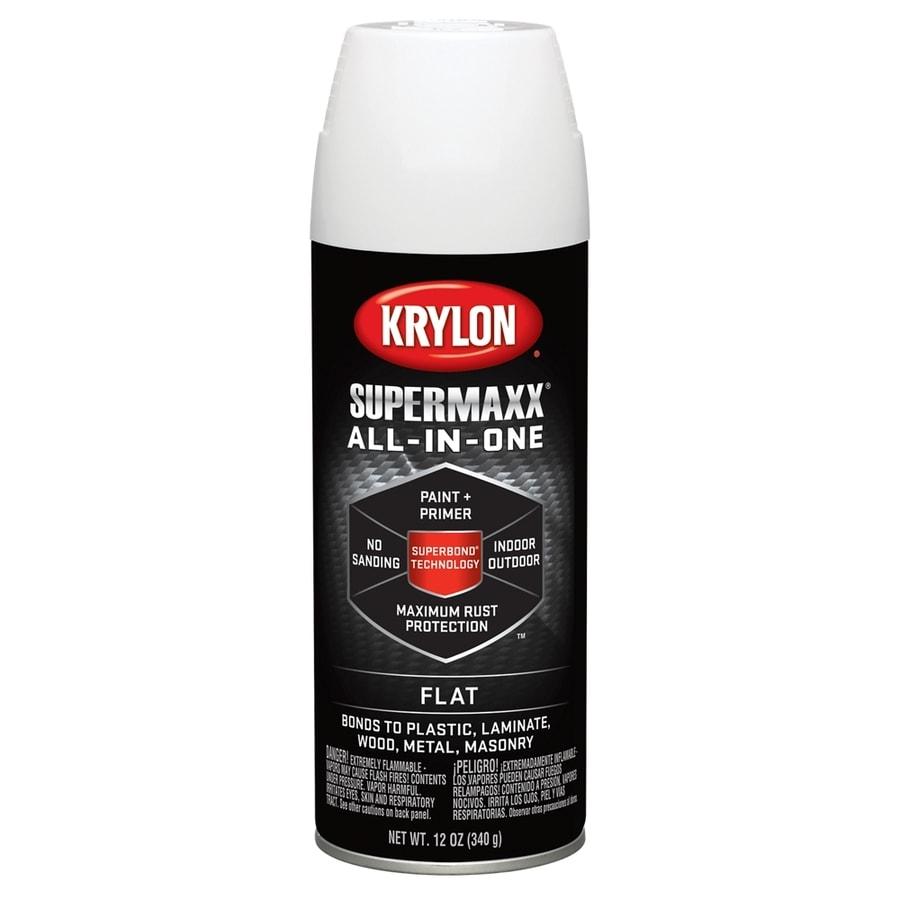 Krylon White Enamel Spray Paint (Actual Net Contents: 12-oz)