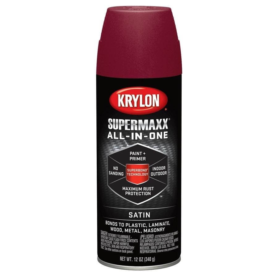 Krylon SuperMaxx Burgundy Enamel Spray Paint (Actual Net Contents: 12-oz)