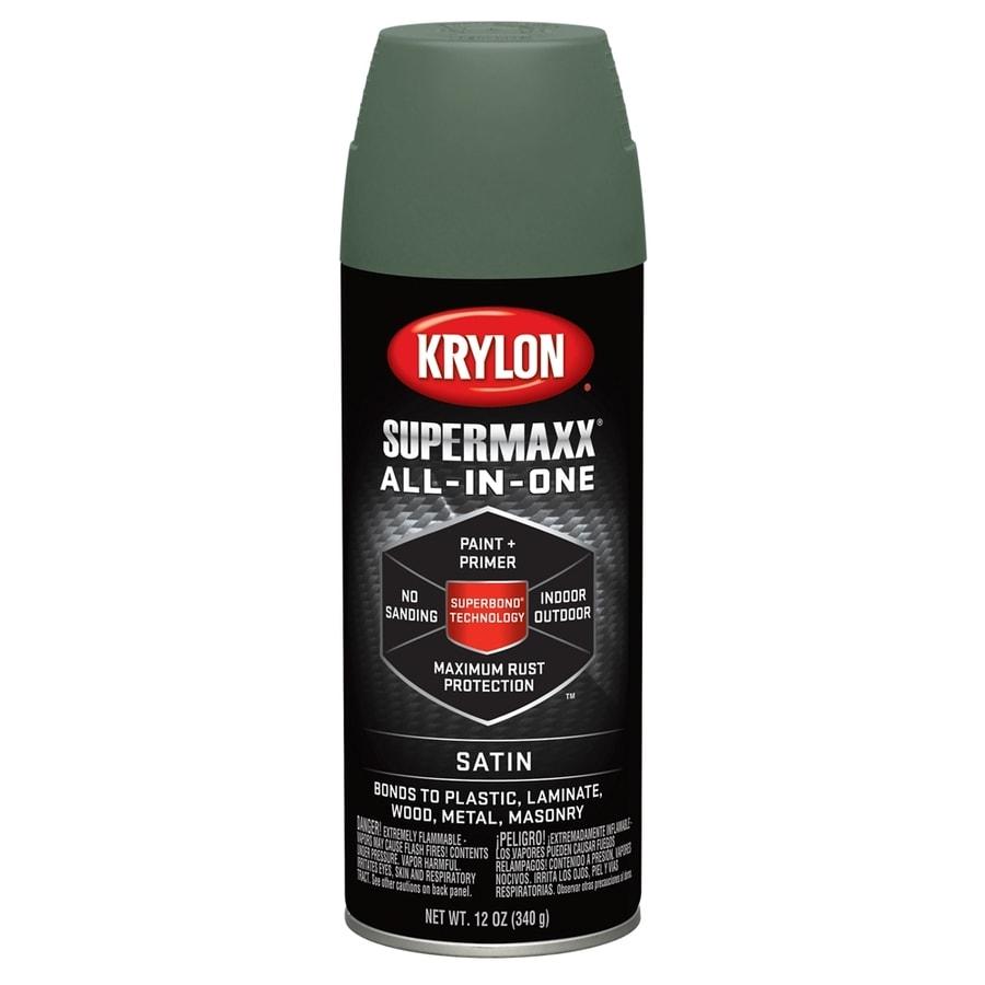 Krylon SuperMaxx Camp Green Enamel Spray Paint (Actual Net Contents: 12-oz)