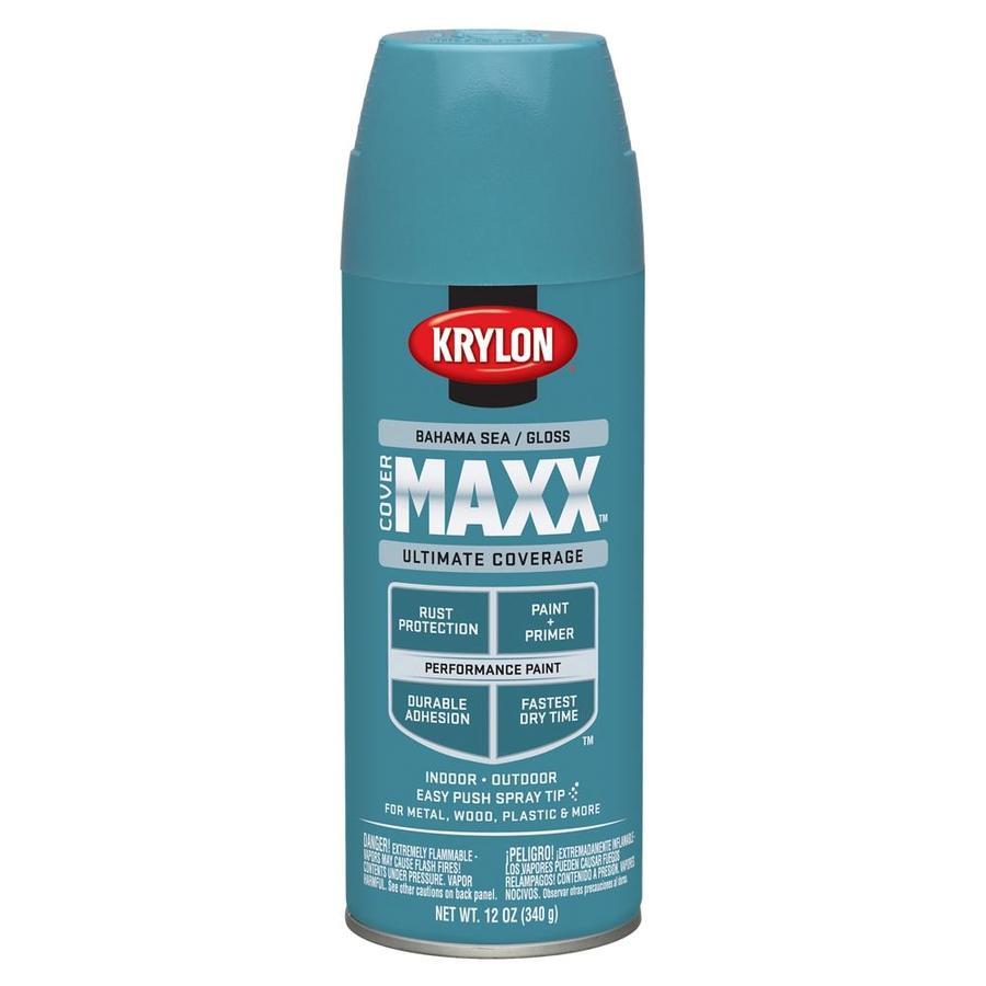 Krylon Bahama Sea Enamel Spray Paint (Actual Net Contents: 12-oz)