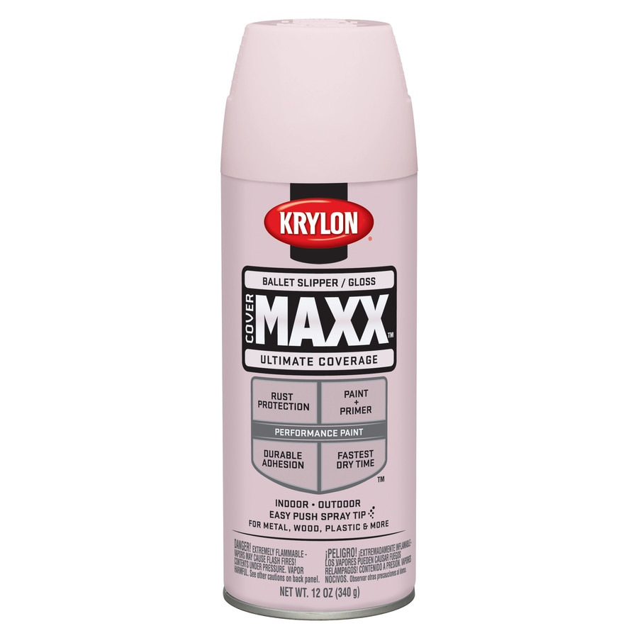 Krylon CoverMaxx Ballet Slipper Enamel Spray Paint (Actual Net Contents: 12-oz)