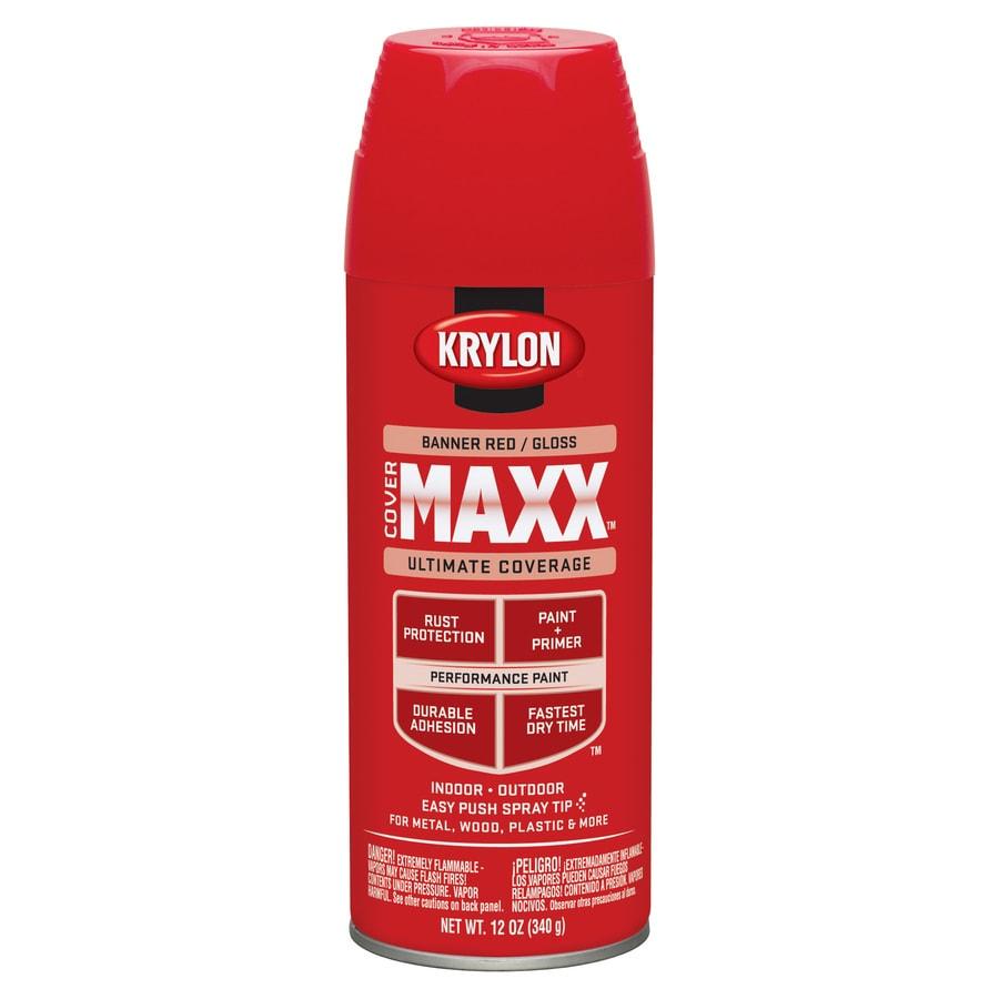 Krylon Banner Red Enamel Spray Paint (Actual Net Contents: 12-oz)