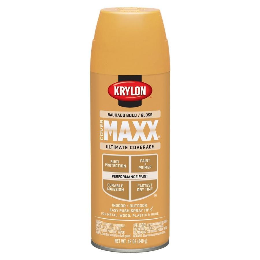 Krylon Bauhaus Gold Enamel Spray Paint (Actual Net Contents: 12-oz)