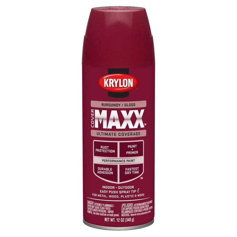 Krylon Burgundy Enamel Spray Paint (Actual Net Contents: 12-oz)