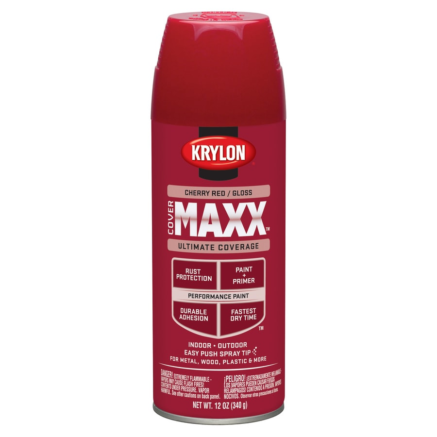 Krylon CoverMaxx Cherry Red Enamel Spray Paint (Actual Net Contents: 12-oz)
