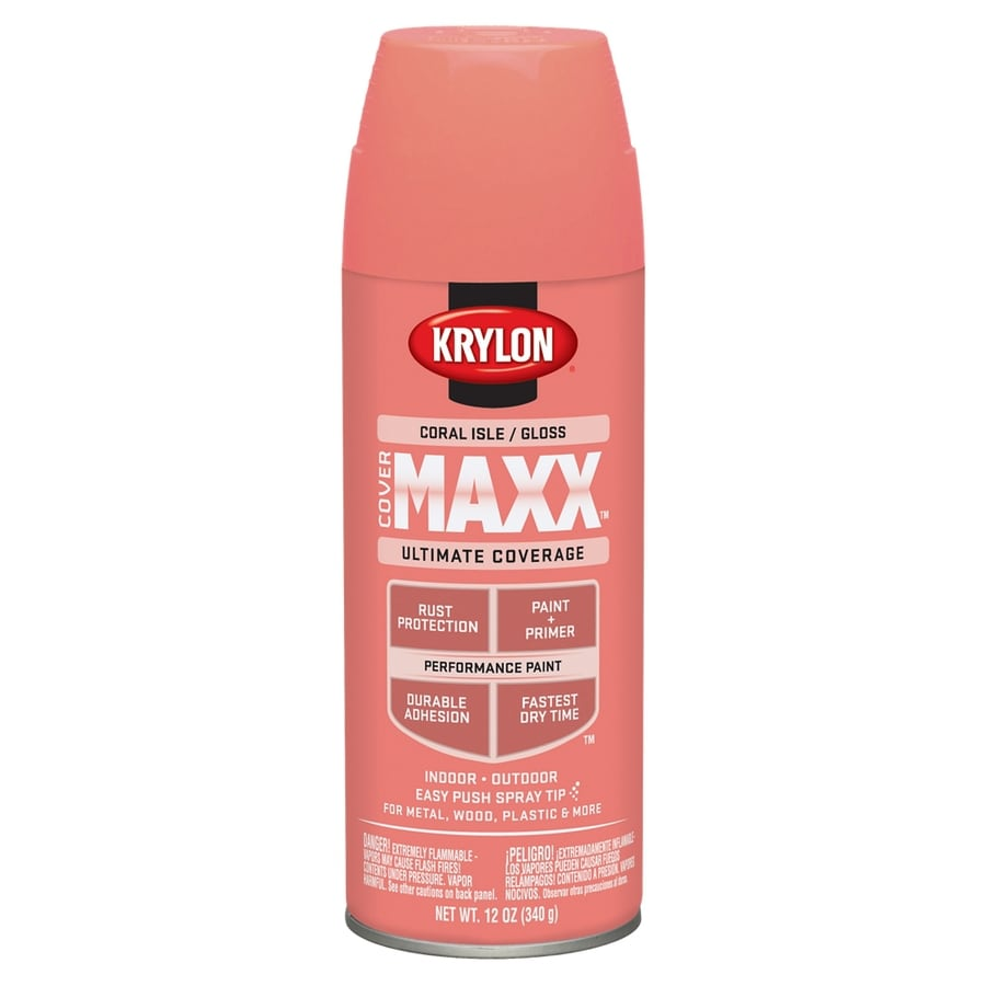 Krylon CoverMaxx Coral Isle Enamel Spray Paint (Actual Net Contents: 12-oz)