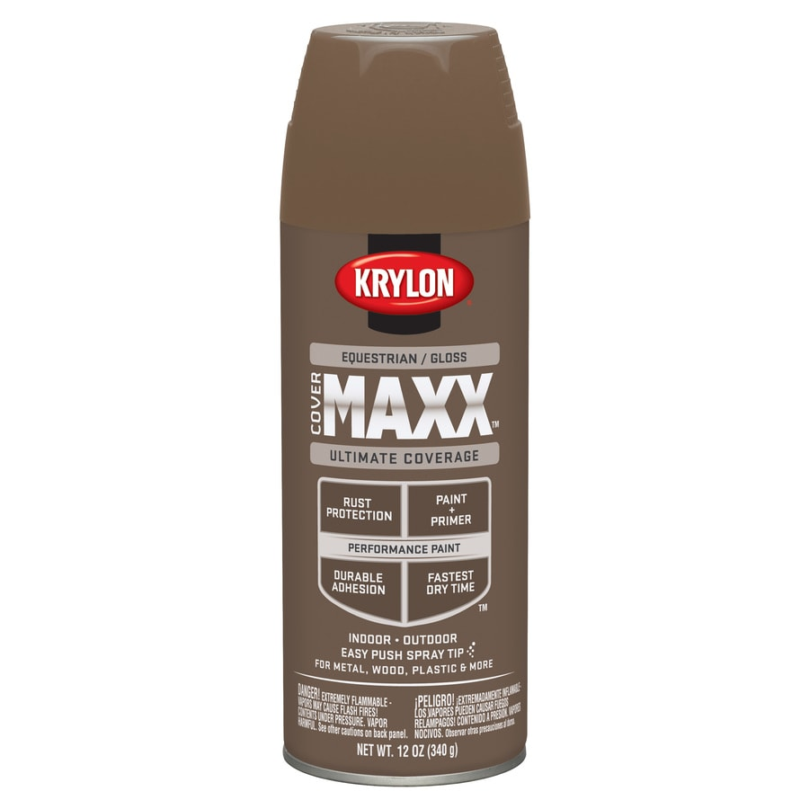 Krylon CoverMaxx Equestrian Enamel Spray Paint (Actual Net Contents: 12-oz)