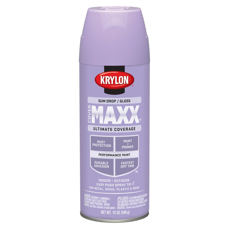 Krylon CoverMaxx Gum Drop Enamel Spray Paint (Actual Net Contents: 12-oz)