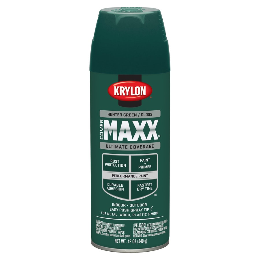 Krylon Hunter Green Enamel Spray Paint (Actual Net Contents: 12-oz)