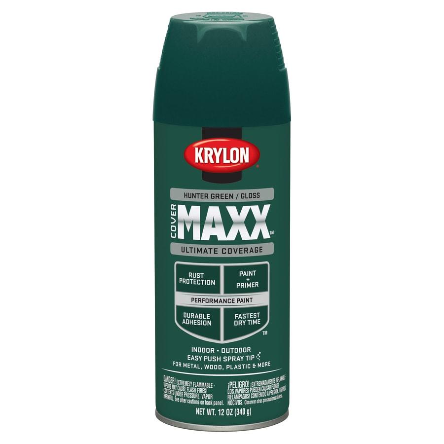 Krylon CoverMaxx Hunter Green Enamel Spray Paint (Actual Net Contents: 12-oz)
