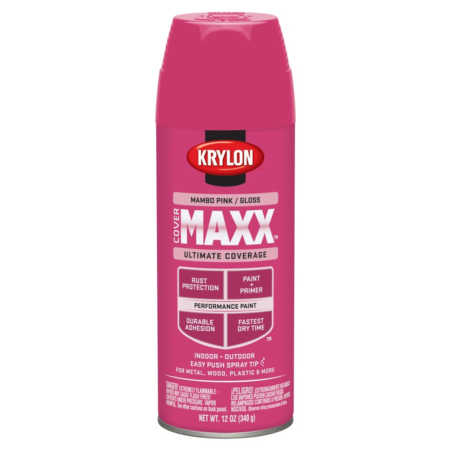 Shop Krylon Mambo Pink Enamel Spray Paint Actual Net Contents 12 Oz At