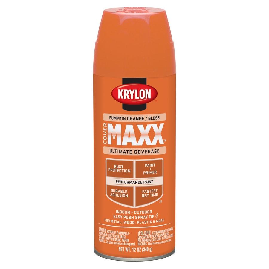 shop krylon pumpkin orange enamel spray paint actual net. Black Bedroom Furniture Sets. Home Design Ideas