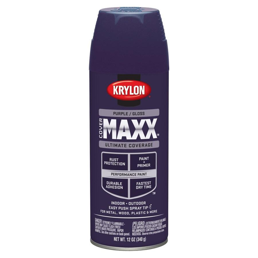 Krylon CoverMaxx Purple Enamel Spray Paint (Actual Net Contents: 12-oz)