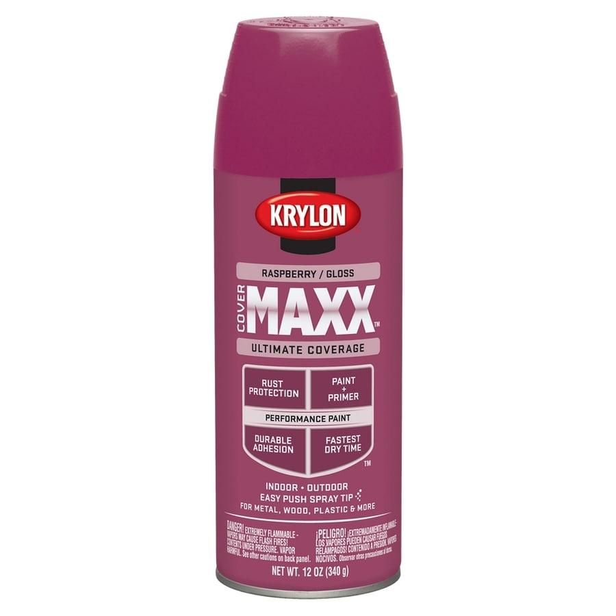 Krylon CoverMaxx Raspberry Enamel Spray Paint (Actual Net Contents: 12-oz)