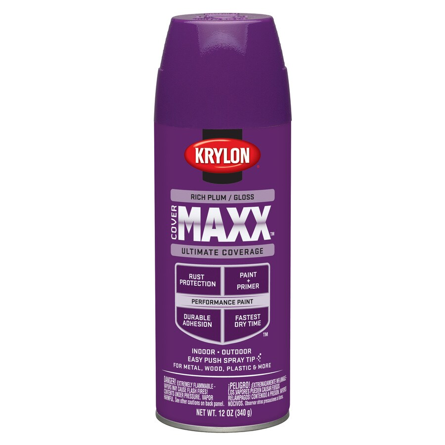 Shop Krylon Rich Plum Enamel Spray Paint Actual Net