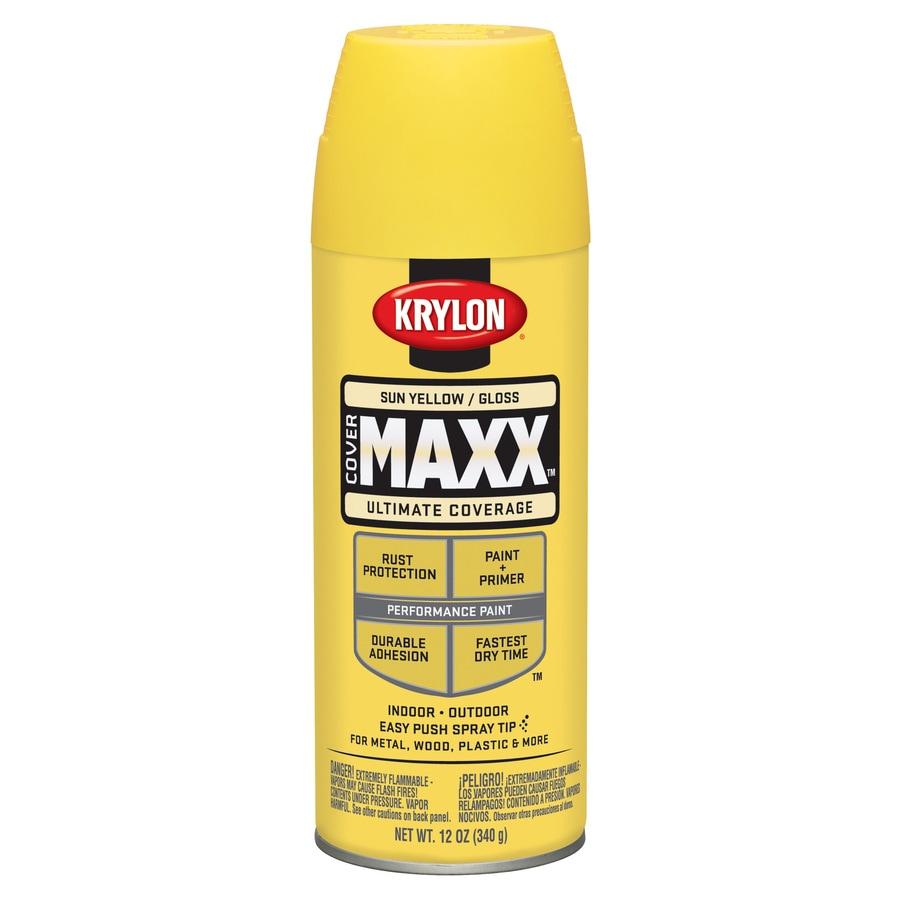 Krylon Sun Yellow Enamel Spray Paint (Actual Net Contents: 12-oz)