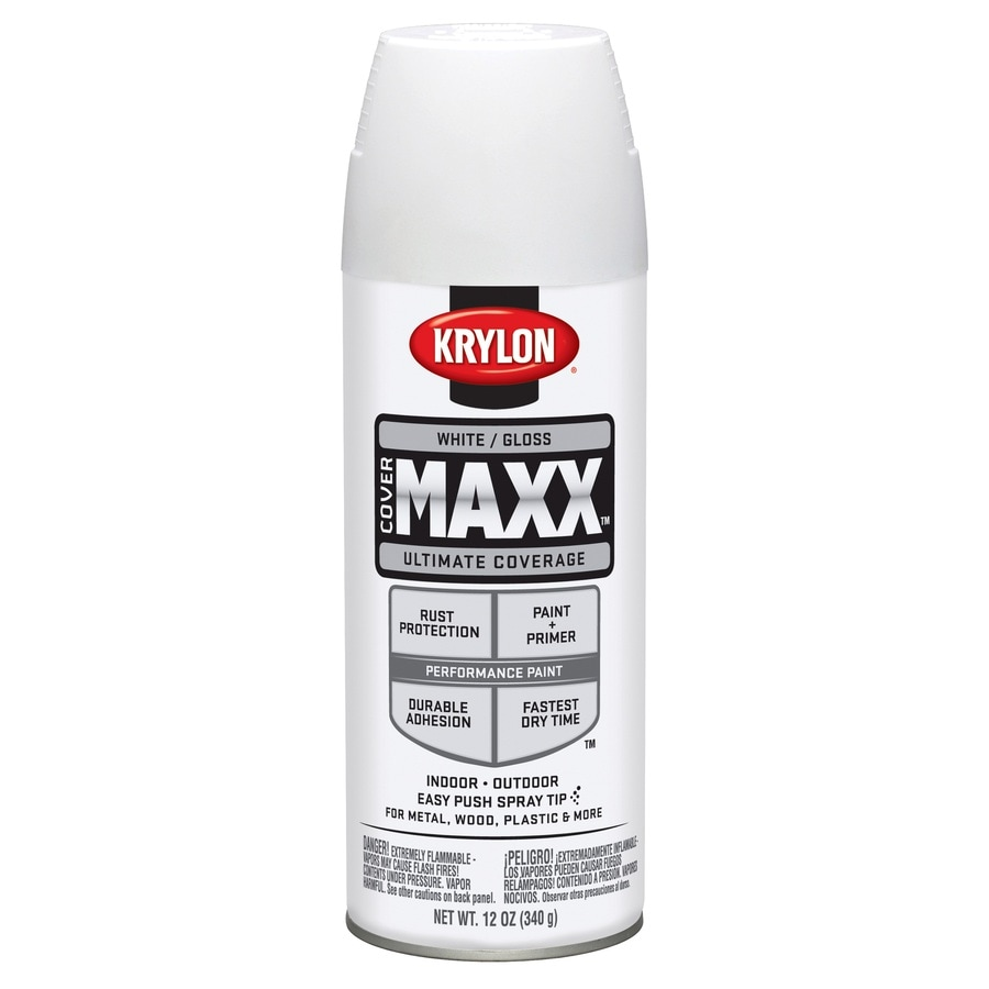 Shop Krylon White Enamel Spray Paint Actual Net Contents 12 Oz At