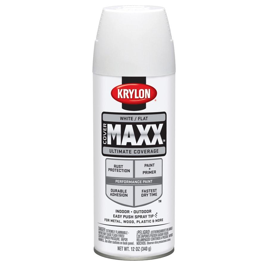 Krylon CoverMaxx White Enamel Spray Paint (Actual Net Contents: 12-oz)
