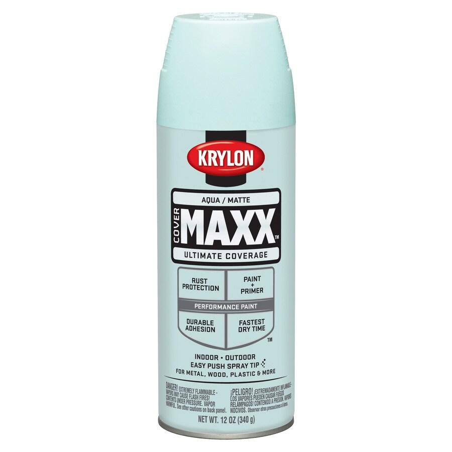 Krylon Aqua Enamel Spray Paint (Actual Net Contents: 12-oz)