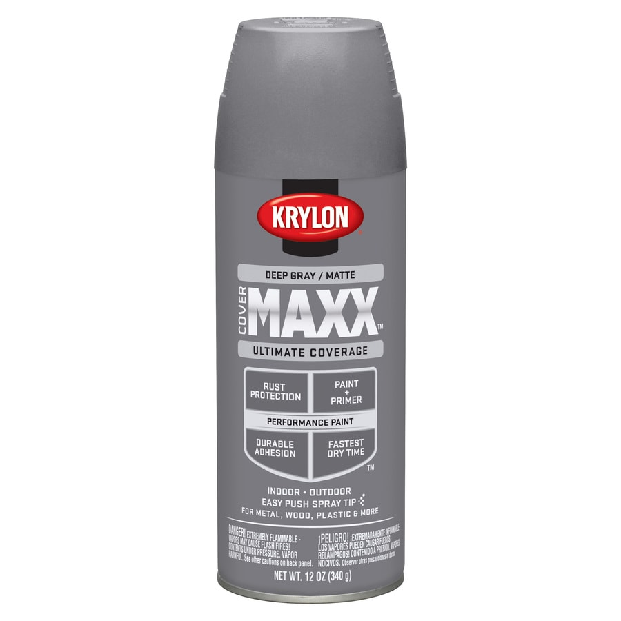 Krylon Deep Gray Enamel Spray Paint (Actual Net Contents: 12-oz)