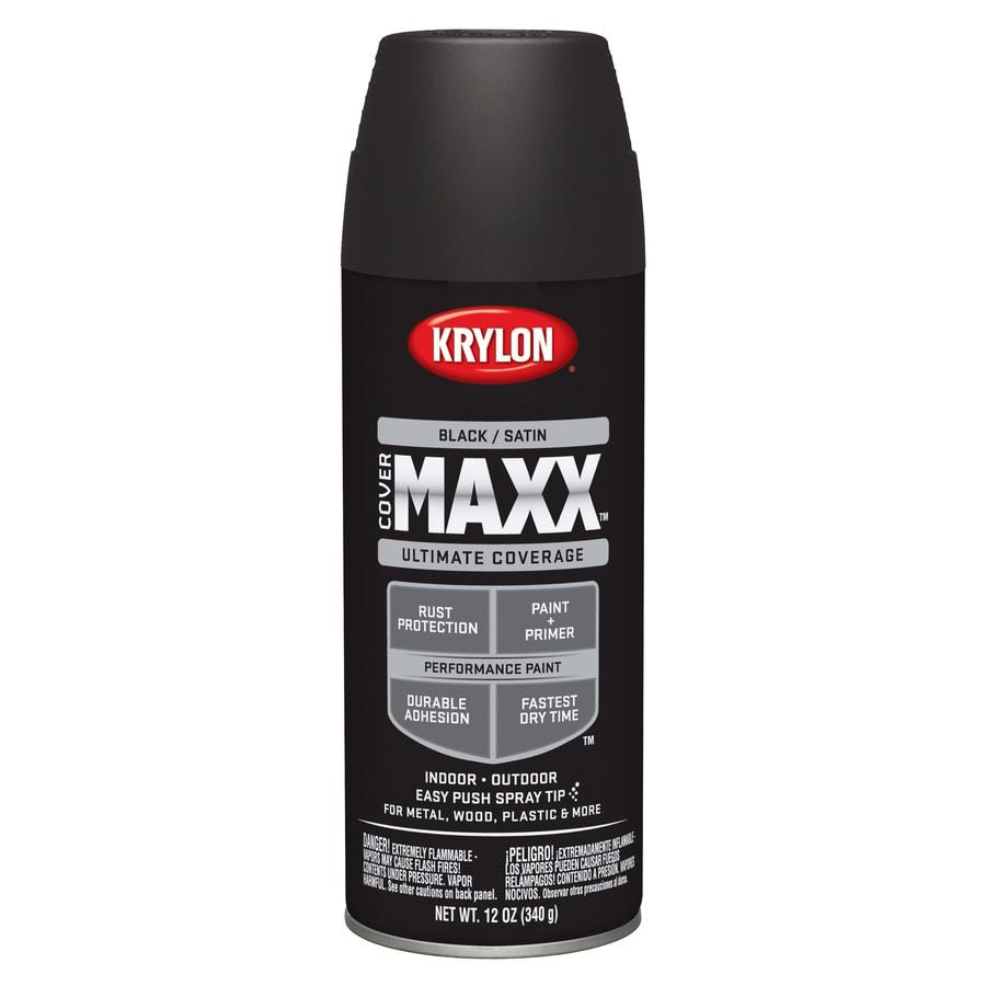 Krylon Black Enamel Spray Paint (Actual Net Contents: 12 Oz.)