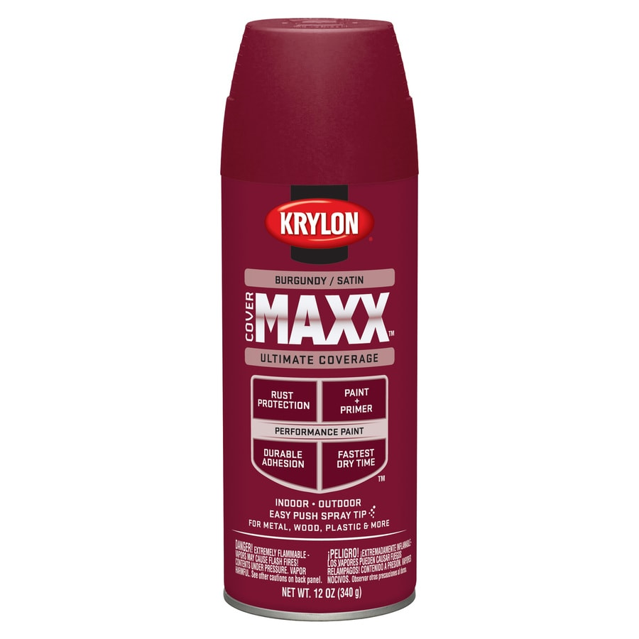 Shop Krylon Burgundy Enamel Spray Paint Actual Net Contents 12 Oz At