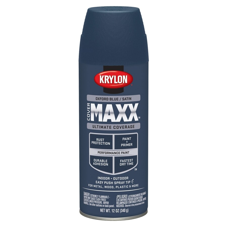 Krylon Oxford Blue Enamel Spray Paint (Actual Net Contents: 12-oz)