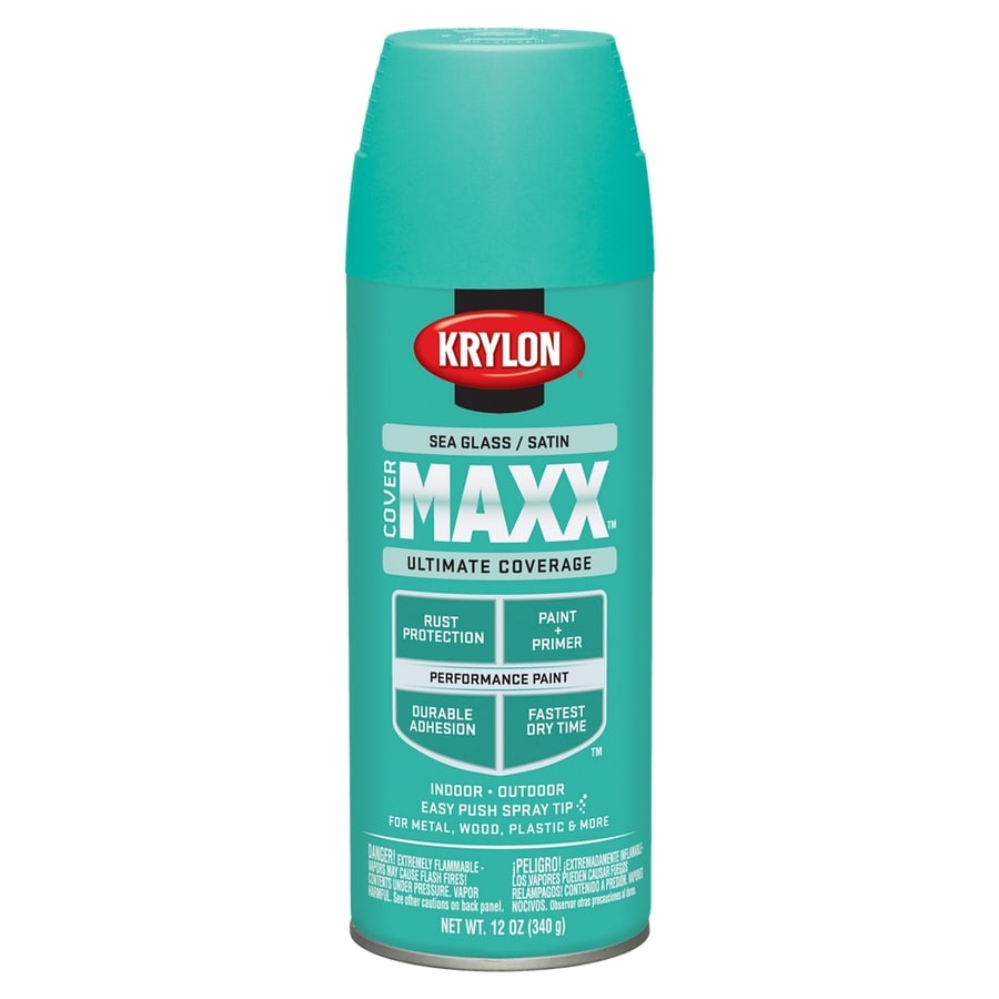 Krylon CoverMaxx Sea Glass Enamel Spray Paint (Actual Net Contents: 12-oz)