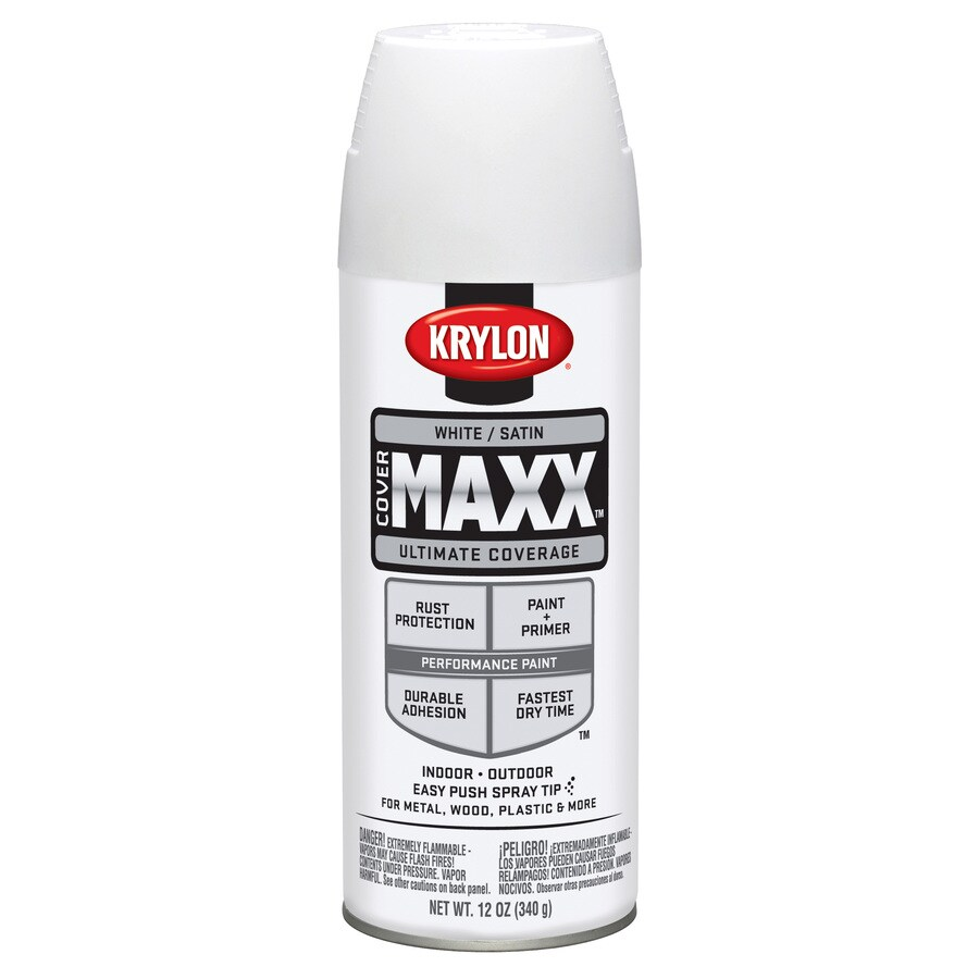 Krylon CoverMaxx White Enamel Spray Paint (Actual Net Contents: 12-oz)