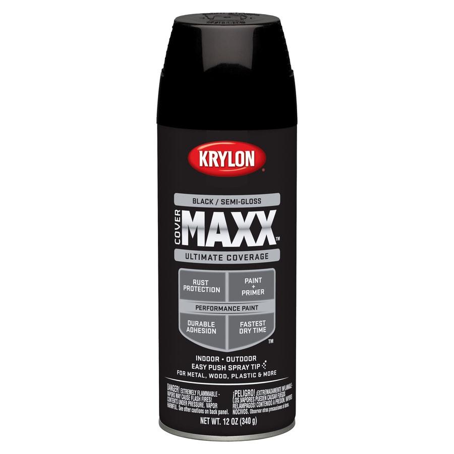 Krylon Black Enamel Spray Paint (Actual Net Contents: 12-oz)