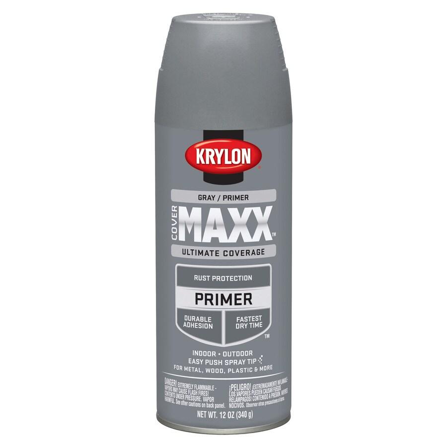 Krylon CoverMaxx Gray Enamel Spray Paint (Actual Net Contents: 12-oz)