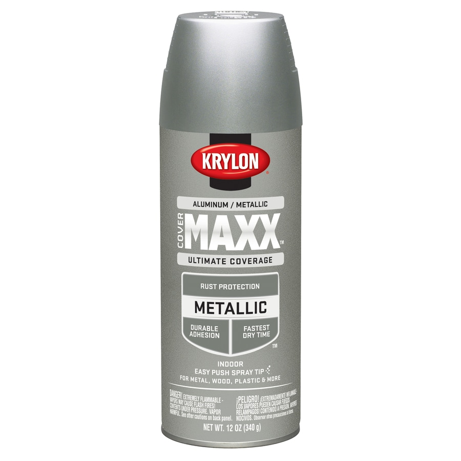 Krylon CoverMaxx Aluminum Metallic Enamel Spray Paint (Actual Net Contents: 12-oz)