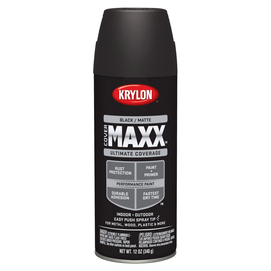 Krylon Black Enamel Spray Paint (Actual Net Contents: 12-oz)