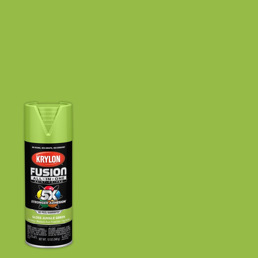 Krylon Fusion All In One General Purpose Gloss Jungle Green Spray Paint Actual
