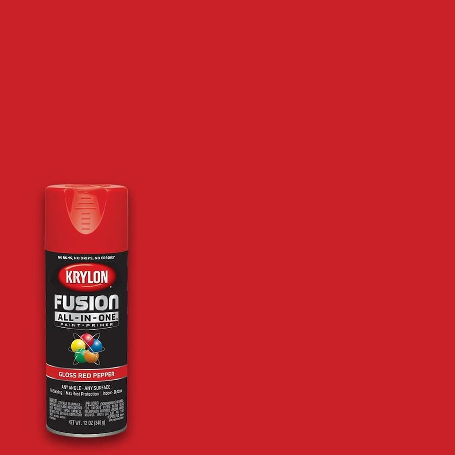 Krylon Fusion All In One General Purpose Gloss Red Pepper Spray Paint Actual Net Contents 12 Oz