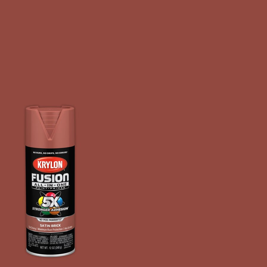 Krylon Fusion All In One General Purpose Satin Brick Spray Paint Actual Net