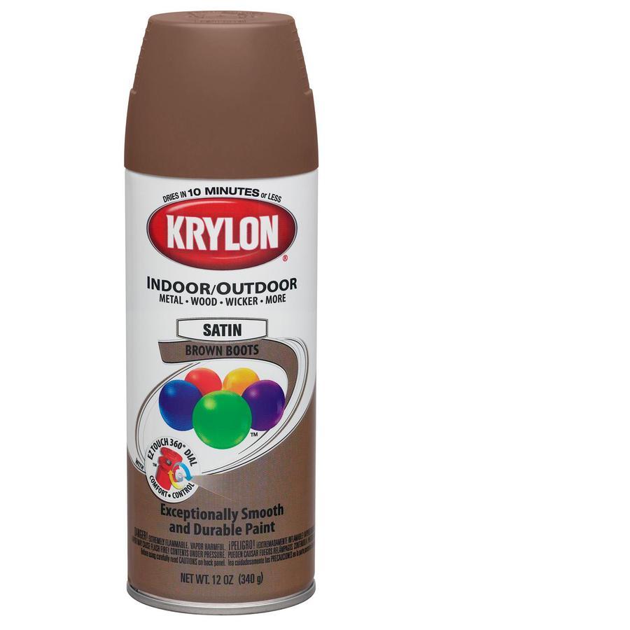 Shop Krylon 12 Oz Brown Boots Satin Spray Paint At